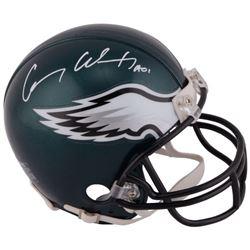 "Carson Wentz Signed Eagles Mini Helmet Inscribed ""AO1"" (Fanatics Hologram)"