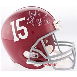 AJ McCarron Signed Alabama Crimson Tide Full-Size Helmet (Radtke COA)