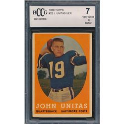 1958 Topps #22 Johnny Unitas (BCCG 7)