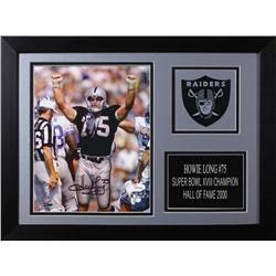 Howie Long Signed Raiders 14x18.5 Custom Framed Photo Display (JSA COA)