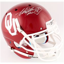 Adrian Peterson Signed Oklahoma Sooners Full-Size Authentic On-Field Helmet (Fanatics Hologram)