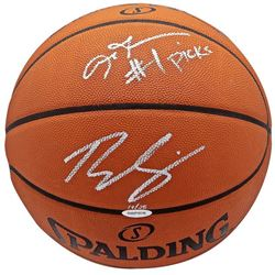 "Ben Simmons  Allen Iverson Signed Limited Edition Spalding Basketball Inscribed ""#1 Picks"" (UDA COA)"