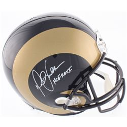 "Marshall Faulk Signed Rams Full-Size Helmet Inscribed ""HOF 20XI"" (Radtke COA)"