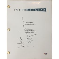 "Matthew McConaughey Signed ""Interstellar"" Movie Full Script (PSA COA)"