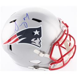 Sony Michel Signed Patriots Full-Size Speed Helmet (Beckett COA)