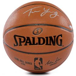 Trae Young Signed NBA Game Ball Series Basketball (Panini COA)