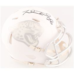 Fred Taylor Signed Jaguars Custom Matte White ICE Mini Speed Helmet (Radtke COA)