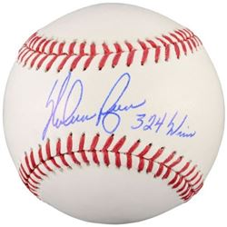 "Nolan Ryan Signed OML Baseball Inscribed ""324 Wins"" (Fanatics Hologram)"