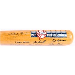 1961 Yankees World Series Champions Special Edition Cooperstown Baseball Bat Team-Signed by (15) wit
