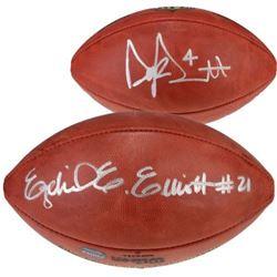 Dak Prescott  Ezekiel Elliott Signed Wilson Football (Fanatics Hologram)