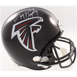 Tony Gonzalez Signed Falcons Full-Size Helmet (JSA COA  Denver Autographs COA)