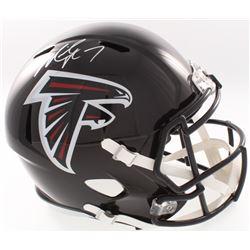 Michael Vick Signed Falcons Full-Size Speed Helmet (JSA COA)