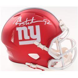 Michael Strahan Signed Giants Blaze Speed Mini Helmet (JSA COA)