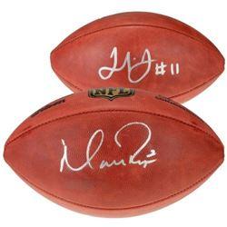 "Matt Ryan  Julio Jones Signed ""The Duke"" Official NFL Game Ball (Fanatics Hologram)"