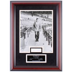 Ted Williams Signed Red Sox 17.5x23.5 LE #1/9 Custom Framed Cut Dispaly (JSA LOA)