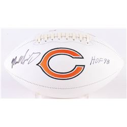 "Mike Singletary Signed Bears Chicago Logo Football Inscribed ""HOF 98"" (Beckett COA)"