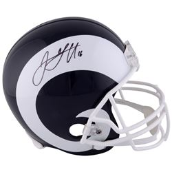 Jared Goff Signed Rams Full-Size Helmet (Fanatics Hologram)