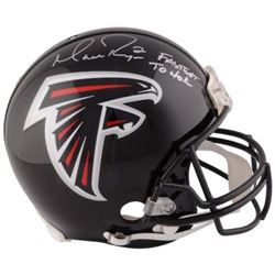 "Matt Ryan Signed Falcons Full-Size Authentic On-Field Helmet Inscribed ""Fastest to 40K"" (Fanatics Ho"