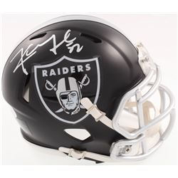 Khalil Mack Signed Raiders Blaze Speed Alternate Mini-Helmet (JSA COA)