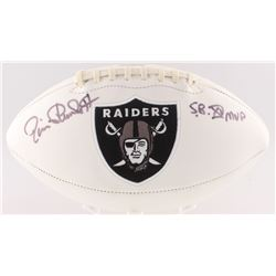 "Jim Plunkett Signed Raiders Logo Football Inscribed ""S.B. XV MVP"" (Radtke COA)"