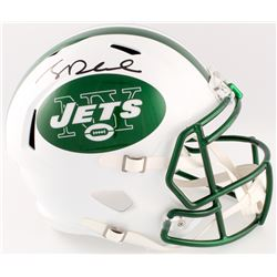 Sam Darnold Signed Jets Full-Size Speed Helmet with Chrome Decals (Beckett COA)