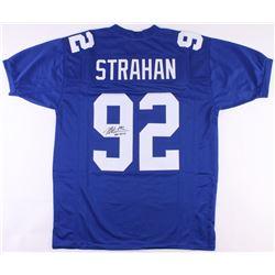 "Michael Strahan Signed Giants Jersey Inscribed ""HOF 2014"" (JSA COA)"