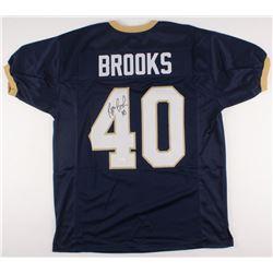 Reggie Brooks Signed Notre Dame Fighting Irish Jersey(JSA COA)