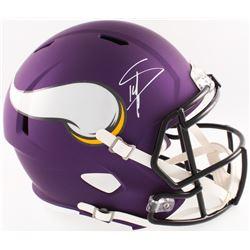 Stefon Diggs Signed Vikings Full-Size Speed Helmet (Radtke COA)