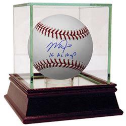 "Mike Trout Signed Baseball Inscribed ""16 AL MVP"" (Steiner COA)"