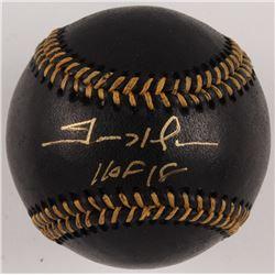 "Trevor Hoffman Signed OML Black Leather Baseball Inscribed ""HOF 18"" (JSA COA)"