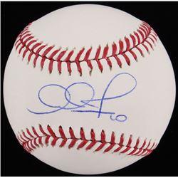 Adam Jones Signed OML Baseball (Fanatics Hologram MLB Hologram)