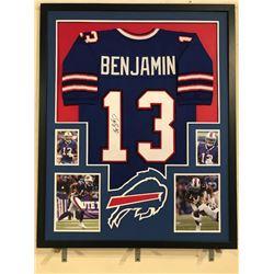 Kelvin Benjamin Signed Bills 34x42 Custom Framed Jersey Display (JSA COA)
