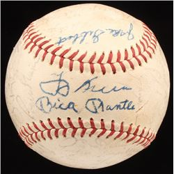 1963 Yankees OAL Baseball Team-Signed by (41) with Whitey Ford, Roger Maris, Elston Howard, Bill Kun