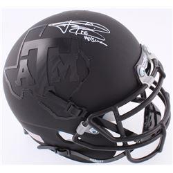 Johnny Manziel Signed Texas AM Custom Matte Black Mini-Helmet (JSA COA)