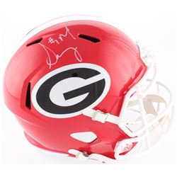 Sony Michel Signed Georgia Bulldogs Full-Size Speed Helmet (Radtke COA)