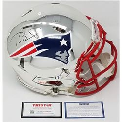 Tom Brady Signed Patriots LE Chrome Full-Size Authentic On-Field Speed Helmet (Steiner COA  Tristar