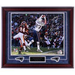 Rob Gronkowski Signed Patriots 23x27 Custom Framed Photo Display (Gronkoski Hologram)