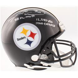 "Hines Ward Signed Steelers Full-Size On-Field Helmet Inscribed ""SB XL MVP"", ""12,083 Yds""  ""1000 Catc"