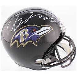 "Ray Lewis Signed Ravens Full-Size Helmet Inscribed ""SB XXXV MVP"" (JSA Hologram)"