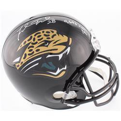 "Fred Taylor Signed Jaguars Full-Size Helmet Inscribed ""11,695 Rush YDS"" (Beckett COA)"
