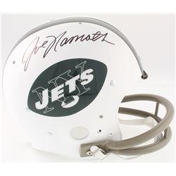Joe Namath Signed Jets Full-Size Throwback Suspension Helmet (JSA COA)