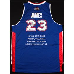 LeBron James Signed LE Cavaliers All-Star East Highlight Stat Jersey (UDA COA)