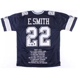 Emmitt Smith Signed Cowboys Career Highlight Stat Jersey (Smith  Radtke Holograms)