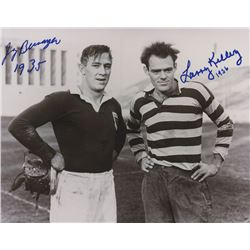 """Larry Kelley  Jay Berwanger Signed 8x10 Photo Inscribed """"1935""""  """"1936"""" (PSA LOA)"""
