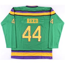 """Elden Henson Signed """"The Mighty Ducks"""" Jersey Inscribed """"Bash Brothers""""  """"Fulton Reed"""" (JSA COA)"""