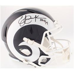 "Eric Dickerson Signed Rams Full-Size Helmet Inscribed ""HOF 99"" (Radtke COA)"
