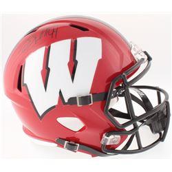 J. J. Watt Signed Wisconsin Badgers Full-Size Speed Helmet (JSA COA  Watt Hologram)