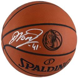 Dirk Nowitzki Signed Mavericks Engraved Basketball (Fanatics Hologram)