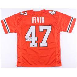 "Michael ""Playmaker"" Irvin Signed University of Miami Hurricanes Jersey (Radtke COA)"