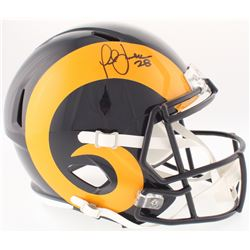 Marshall Faulk Signed Rams Full-Size Throwback Speed Helmet (JSA COA)